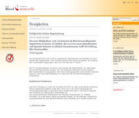SBSC Newsseite mit RSS Feed