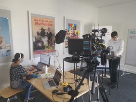 Professionelles live Streaming in TV Studio Bern