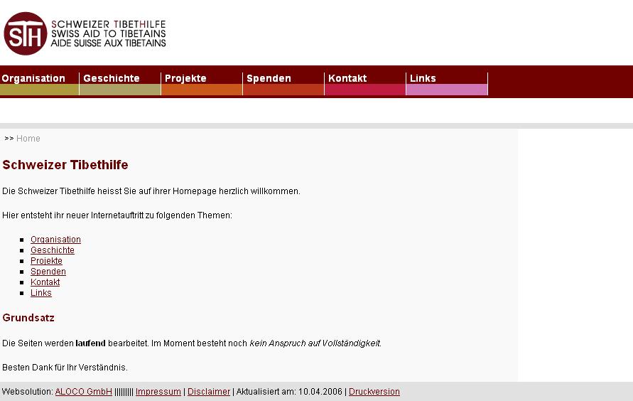 Grafik der Webseite von Grafiker Bern