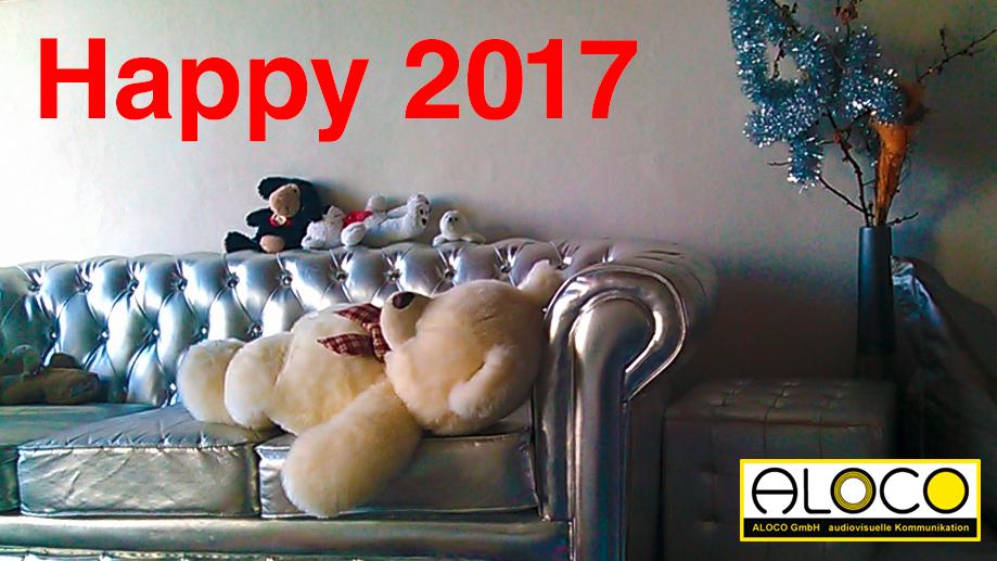 Happy 2017 von den Webdesigner, Filmemacher, Fotografen, Grafiker für Ihre Kunden! ALOCO Bern