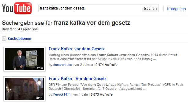 Franz Kafka - Youtube video